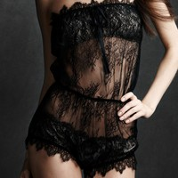 Chantilly Romper in  the SHOP Attire Lingerie at BHLDN