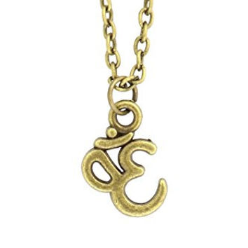 Om Necklace Antique Gold Tone Aum Charm Hindu Buddhist Yoga Sanskrit Pendant NP65 Fashion Jewelry