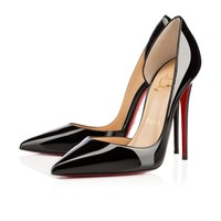 Best Online Sale Christian Louboutin Cl Iriza Black Patent Leather 120mm Stiletto Heel Classic
