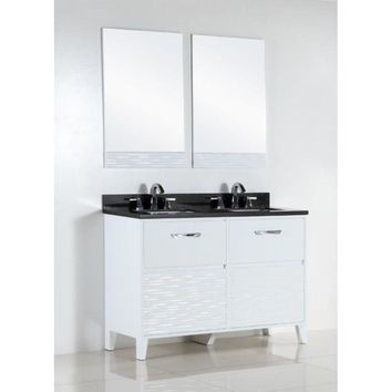 48 in. Double sink vanity with black galaxy top