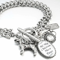 Personalized Memorial Charm Bracelet for Dogs