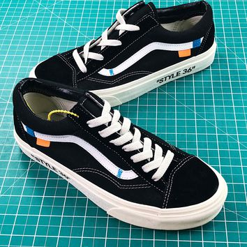Off White X Vans Old Skool Fashion Shoes Sneakers - Best Online Sale