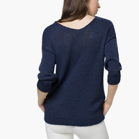 STRUCTURED SWEATER - Sweaters & Cardigans - WOMEN - United States of America / Estados Unidos de América