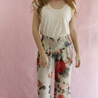 Show Me Your Mumu Roberts Party Pants in Lady Rose Print