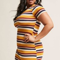 Plus Size Multicolor Stripe Dress