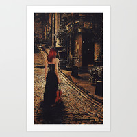 Soloist - Solitary Woman with Violin Art Print by Galen Valle