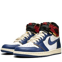 Trendsetter Air Jordan 1 Aj1 X Union Women Men Fashion  Casual High-Top Old Skool Shoes