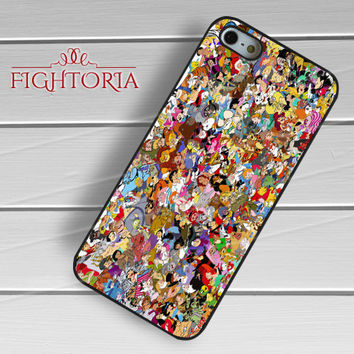 Disney Characters Collage - zzZzz for  iPhone 4/4S/5/5S/5C/6/6+s,Samsung S3/S4/S5/S6 Regular/S6 Edge,Samsung Note 3/4