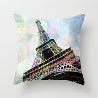 Paris 2 Throw Pillow by Mareike Böhmer Graphics