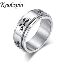 8MM Spinner Stainless Steel Cat Rings for Women Men Cute Cat Face Wedding Band Rings Jewelry Fashion Simple Unisex Accessories