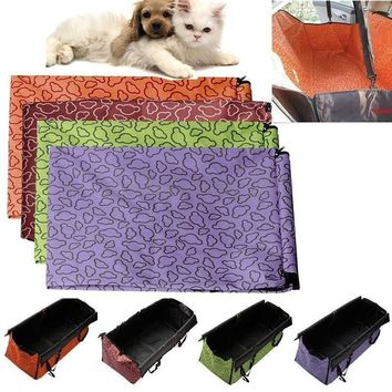 Pet Dog Cat Car Rear Back Seat Carrier Cover High Quality Pet Dog Mat Blanket Cover Mat Hammock Cushion Protector 2 Sizes