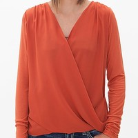 BKE red Surplice Top