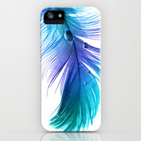 Blue Blue Electric Blue iPhone & iPod Case by Ally Coxon
