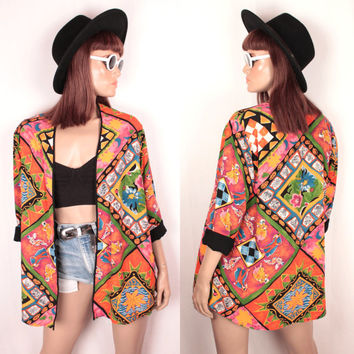 geometric tribal print jacket // oversize