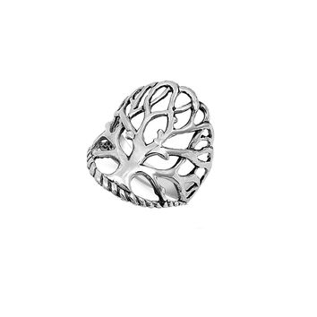 925 Sterling Silver Tree of Life Ring 24MM