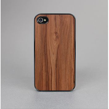 The Smooth-Grained Wooden Plank Skin-Sert Case for the Apple iPhone 4-4s
