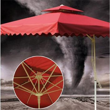 2.5*2.5M Outdoor Tent Umbrella Guard Post Folding Umbrella Portable Beach Sun Umbrella with cross iron base