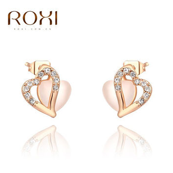 ROXI Earrings For Women Rose Gold Plated Love Style For Party Fashion Jewelry