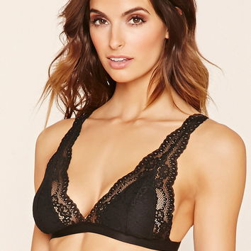 Scalloped Lace Bralette | Forever 21 - 2000171344