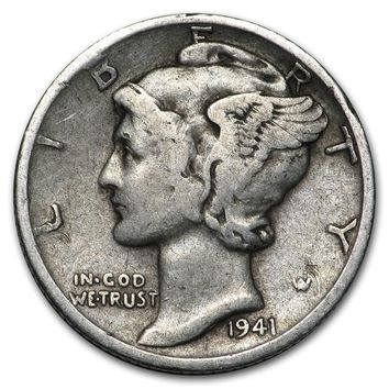1941-S Mercury Dime Good/VF
