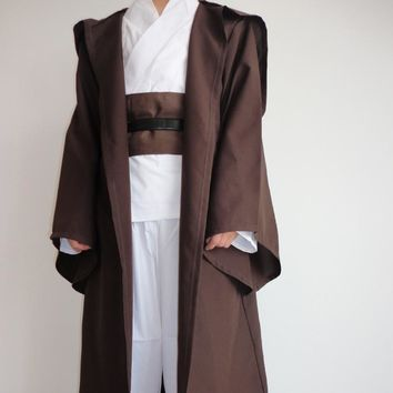 Star Wars Force Episode 1 2 3 4 5  Robe Cape Adult Hooded Robe Jedi Kinight Cosplay Black/Brown Cloak Cape Anakin Skywalker Obi- Wan 6 size AT_72_6