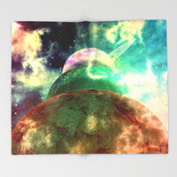 Meanwhile, Somewhere in The Universe... Throw Blanket by Octavia Soldani | Society6