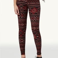 Aztec Brushed Leggings