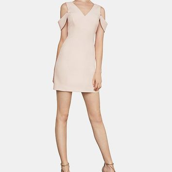 BCBGMAXAZRIA Eve Cold-Shoulder Crepe Sheath Dress Women - BCBGMAXAZRIA - Macy's