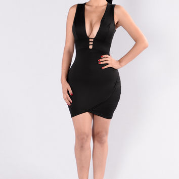 Scuba Cuba Dress - Black