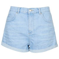 MOTO Bright Blue Rosa Shorts - Light Blue