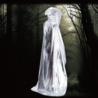 Hooded Long Cloak Cape Medieval Halloween Robe Costume Wedding Party Costume