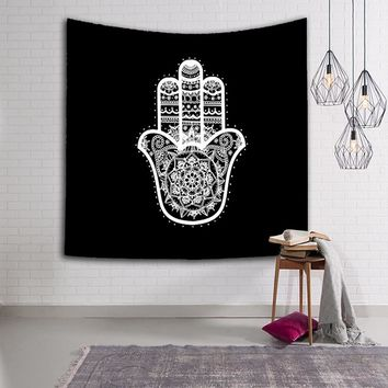 Indian Mandala Hand Tapestry Wall Hanging Tapestry For Home Decor Yoga Mat Table Cloth Printed Beach Towel Throw Yoga Blanket