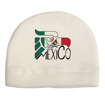 Mexico Eagle Symbol - Mexican Flag - Mexico Child Fleece Beanie Cap Hat by TooLoud