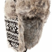 Sakkas 30C Unisex Faux Fur Trooper Hat - Alex Black
