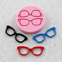 Eyeglasses Mold Mould Silicone Nerd Geek Resin Mold (302)