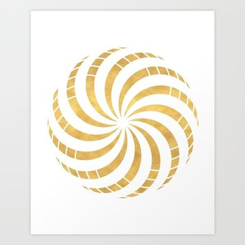 GOLD TORUS circular sacred geometry Art Print by deificus Art