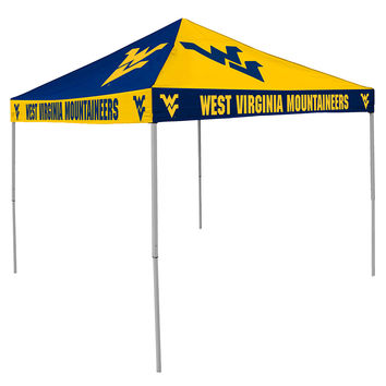 West Virginia Mountaineers NCAA 9' x 9' Checkerboard Color Pop-Up Tailgate Canopy Tent