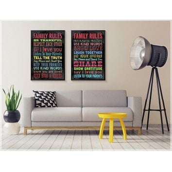 Motivational Family Rules Poster