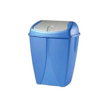 Swing Bin Trash Can for guys or girls dorm rooms to hold garbage and keep covered with a lid is useful dorm stuff