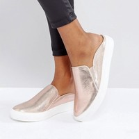 Miss Selfridge Metallic Backless Trainers at asos.com