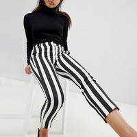 Mango Stripe Peg Crop PANTS at asos.com