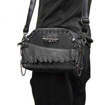 Vintage SteamPunk Rivet Leather Shoulder Bags