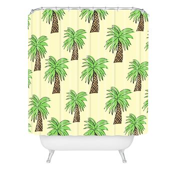Allyson Johnson Palm Tree Party Shower Curtain