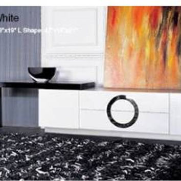 Modern Lacquer White TV Stand