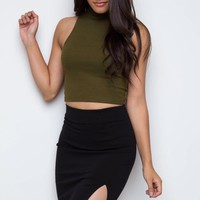 Angel Pencil Skirt - Black