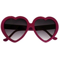 Lolita Heart Shaped Sunglasses In Magenta