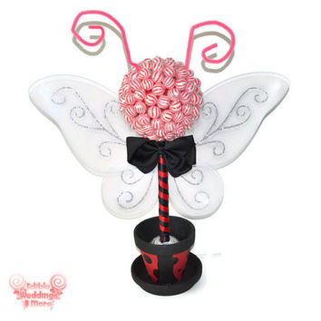 Ladybug Lollipop Topiary, Candy Topiary, Lollipop Centerpiece, Candy Centerpiece, Candy Buffet, Baby Shower, Birthday Party, Bridal Shower
