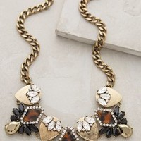 Dorado Crystal Bib Necklace by BaubleBar x Anthropologie Black Motif One Size Necklaces