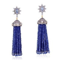 Diamond Gold Tassel Earrings