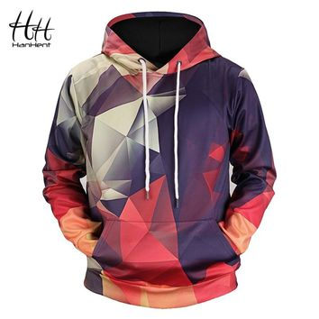 HanHent New Geometric Hoodies 3d Man Streetwear 2018 Fashion Hoody Men's Clothing Men 3d Sweatshirt Geeks Math 3d-hoodies HD0005